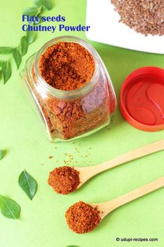 Flax seeds chutney powder that enhances your breakfast like idli to next level. It's spicy and healthy side dish that you can pair with dosa too. to eat flax seed recipes Healthy Indian Recipes, Indian Snacks, Veg Recipes, Snack Recipes, Cooking Recipes, Recipies, Homemade Spices, Homemade Seasonings, Podi Recipe