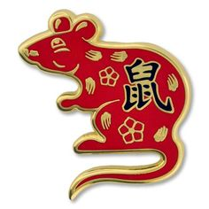 online shopping for PinMart PinMart Chinese Zodiac Year Rat New Year Enamel Lapel Pin from top store. See new offer for PinMart PinMart Chinese Zodiac Year Rat New Year Enamel Lapel Pin Chinese New Year Wallpaper, Chinese New Year Card, Chinese Paper, Chinese Astrology, Chinese Zodiac Signs, Zodiac Years, Happy New Year Images, Year Of The Rat, New Years Decorations
