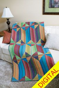 Sedona Stripes Throw-Size Quilt Pattern from QuiltandSewShop.com