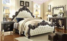4 Piece Traditional HD-1208 Bedroom Set (Use Coupon Code FREESHIP17 FOR FREE SHIPPING)