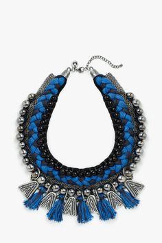 Collar combinado étnico - collares | Adolfo Dominguez shop online