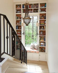 10 Cozy Reading Nooks for Your Fall Mood – Cottage Journal – Page 8 reading nook – window seat with book case Home Library Rooms, Home Libraries, Cozy Home Library, My New Room, Home And Living, Living Room, Future House, New Homes, Interior Design