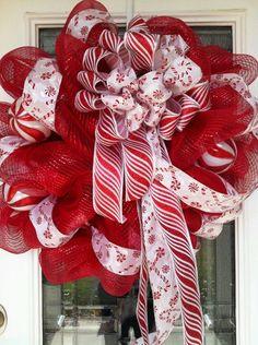 Deco wreath-candy cane