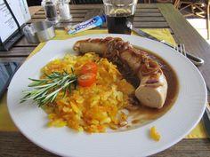Liechtenstein schnitzel meal...