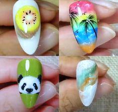 Nail Art Designs Videos, Nail Design Video, Best Nail Art Designs, Nail Art Hacks, Nail Art Diy, Gel Nails, Nail Polish, Stiletto Nails, Mickey Nails