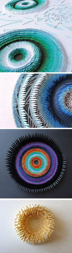 Explosive Cut Paper Sculptures by Clare Pentlow