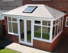 Garden room roof Solid C - gardenroom Tiled Conservatory Roof, Orangery Roof, Conservatory Extension, Conservatory Design, Conservatory Ideas Interior Decor, Conservatory Interiors, Conservatory Garden, Garden Room Extensions, House Extensions