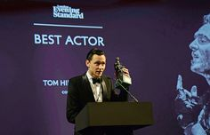Tom Hiddleston accepts the Best Actor award for 'Coriolanus' at the 60th London Evening Standard Theatre Awards at the London Palladium on November 30, 2014 Source: http://tmblr.co/ZAIZ3y1WvY-ZA