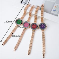 Fashion Womens Watches Trendy Rose Gold Thin Strap Colorful Dial Quartz Minimalist Watches for Women is hot-sale, waterproof watches, bracelet watch, and more other cheap women watches are provided on NewChic. Body Jewelry, Jewelry Sets, Women Jewelry, Waterproof Watch, Quartz Watch, Bracelet Watch, Rose Gold, Womens Fashion, Minimalist
