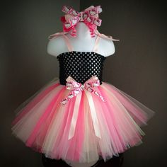 Mint and Pink Hello Kitty Tutu Dress by Arribelle on Etsy, $35.00