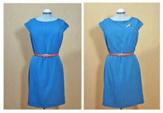 Easy Simply Chique Women's wear,  jewel neckline, capped sleeves, knee length, ready to wear handmade sewing item: code Denise – JSOT9565 by JSOTsHumanHeritage on Etsy  Link: https://www.etsy.com/listing/222356735/easy-simply-chique-womens-wear-jewel?ref=shop_home_active_1