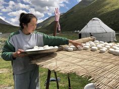 In Xinjiang, the cheese-making process has changed little in centuries. Ancient Aliens, Ancient History, Cheese Making Process, Picnic Blanket, Outdoor Blanket, Silk Road, How To Make Cheese, Bury, Countries