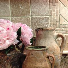 peonies, kitchen, turkish pottery