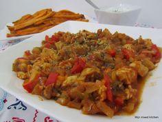 Mijn mixed kitchen: Tavuk sote (Turks stoofgerecht met kip en groenten)