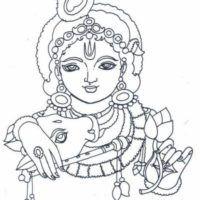 Line-Art Krishna Avatar Krishna Drawing, Krishna Painting, Krishna Art, Hare Krishna, Kerala Mural Painting, Tanjore Painting, Indian Art Paintings, Art Drawings For Kids, Outline Drawings