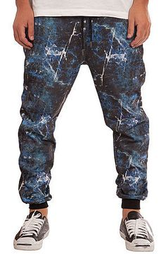 The Blue Marble Joggers in Blue by Elwood
