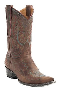 Old Gringo® Women's Distressed Brown Nevada Fancy Stitch Pointed Toe Western Boots | Cavender's Boot City