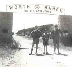 Original Worth Ranch gate in a undated photo.