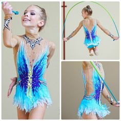Leotard for a junior rhythmic gymnast