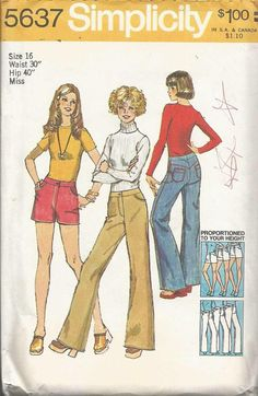 1970s Below Waist Flared Jeans Shorts Proportiones by kinseysue