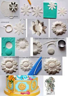 floral decor cake decoration without a mold