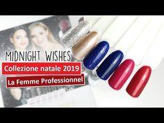 Collezione natalizia smalto semipermanente MIDNIGHT WISHES La Femme Professionnel 🎄 stesura colori Nails Design