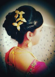 indian bridal reception hairstyle