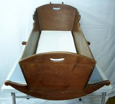 This is similar to the cradle Cole made for his and Molly's eagerly anticipated baby.