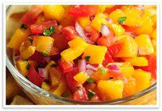Peach Salsa Recipe Canning peach salsa so we can enjoy our homegrown peaches in the winter.