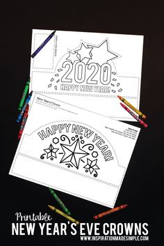 Printable New Year's Eve Crowns for Kids
