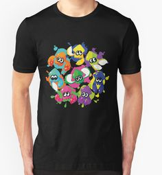Splatoon T-Shirt Inkling Rainbow