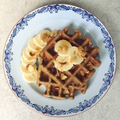 boekweitwafels met banaan  bananawaffles buckwheatwaffles #naareigensmaak