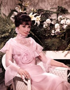 "Audrey Hepburn as Eliza Doolittle in ""My Fair Lady"" - Rose Morning Gown"