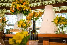 Mesa do Bolo / Mesa de Doces / Decoração de Casamento DIY