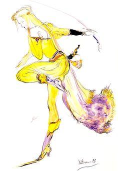 Celes Chere - Final Fantasy VI | Yoshitaka Amano