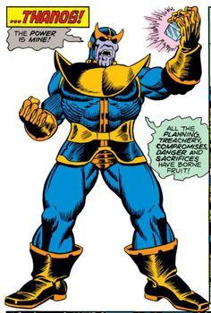 """Thanos, """"Power is Mine"""", Jim Starlin, Captain Marvel Dc Comics Vs Marvel, Marvel Films, Marvel Funny, Marvel Heroes, Marvel Characters, Captain Marvel, Marvel Villains, New Avengers Movie, Avengers Imagines"""