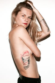 Fashion Tattoos: The Stories Behind The Ink!  #refinery29  http://www.refinery29.com/fashion-tattoo-designs#slide16  Karolina Maszkiewicz, Owner-Operator at Weekend Lovers, 2 tattoos Photographed by Clarke Tolton