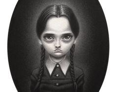 "Wednesday Addams - 5""x7"", print"