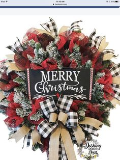 2018 August Wreath Creations from the Trendy Tree Custom Designer List Sharing a Christmas wreath created by Dashing Door Decor. It's available on their website for purchase! 2018 August Wreath Creations from the Trendy Tree Custom Designer List – Trendy Plaid Christmas, Country Christmas, Christmas Time, Buffalo Check Christmas Decor, Trendy Tree, Holiday Wreaths, Holiday Crafts, Winter Wreaths, Christmas Swags