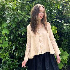 Les Ours Olga Linen Shirt Jacket
