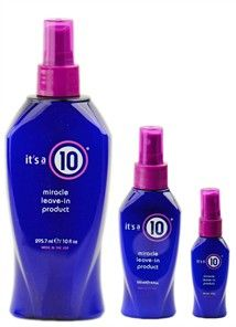"it's a10 Miracle leave-in treatment *works great alone **works best if used after ""it's a 10 hair mask"""
