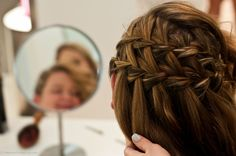 We love waterfall braids, especially for the holidays.