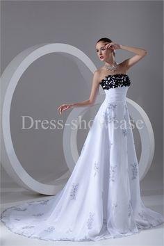 Wonderful Beading A-Line Pear Strapless Court Train Lace Wedding Dresses #wedding #weddinggown #weddingdress #dress #fashion #bigday #womenfashion #womenwear #2015wedding