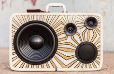 How cool is this suitcase boombox?