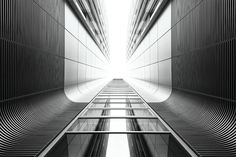 Uncluttered Black and White Architecture Photography