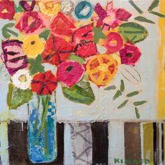 Christy Kinard....wonderful work...paper, fabric,paint....