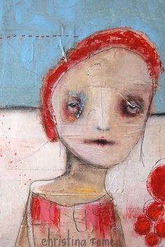Mixed media painting by Christina Romeo #etsy $755
