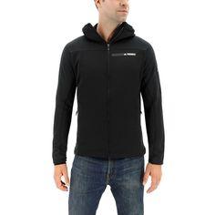 Men's Adidas Terrex Stockhorn Performance Fleece Hooded Jacket, Size: Medium, Black