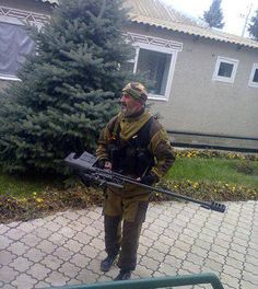 Russian ASVK anti-material rifle in use in Donbass