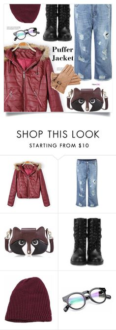 """""""puffer jacket"""" by meyli-meyli ❤ liked on Polyvore featuring newchic and puffers"""